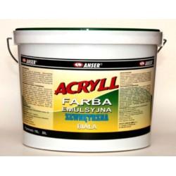 ANSER/Farba emulsyjna akrylowa zewnętrzna ACRYLL 10L