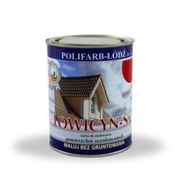 LODZ/Lowicyn SX brązowa 10L RAL 8016 - farba na dach - połysk