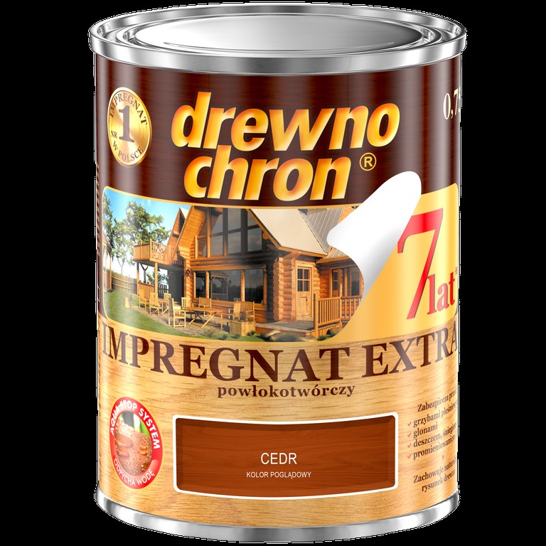 PPG/Drewnochron impregnat Extra cedr 0,75L powłokotwórczy