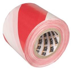 KAEM/Taśma ostrzegawcza  8cmx100m     biało/czerwona
