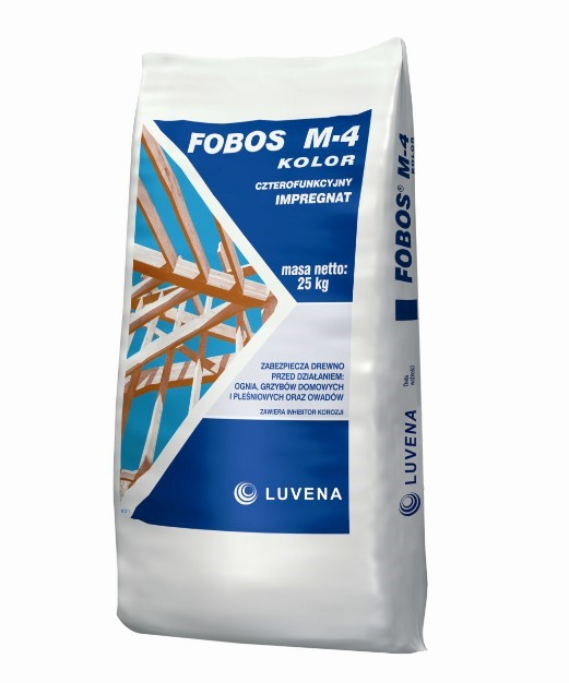IMPREGNAT/..Fobos M-4 kolor 25kg Impregnat ogniochronny grzybobójczy pleśniobójczy