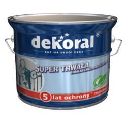 PPG/DEKORAL Emalia chlorokauczuk STRONG brąz czekoladowy średni 0,9L RAL 8017