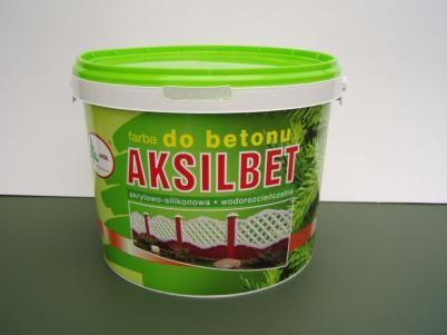 AKSIL/Aksilbet farba do betonu biały 10L