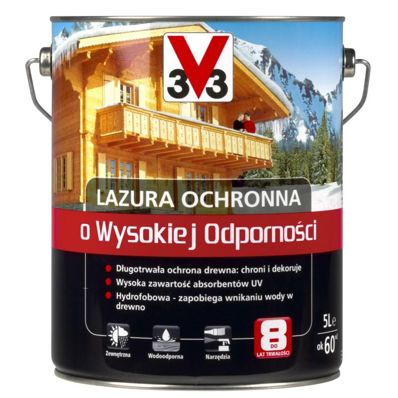 V33/V33 Lazura wysoka odporność mahoń 5l