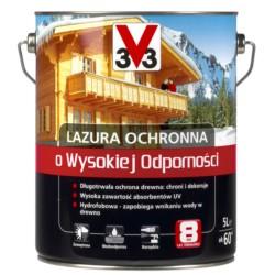 V33/V33 Lazura wysoka odporność szary 0,75 L